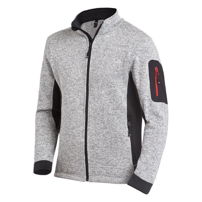 Strick-Fleece-Jacke CHRISTOPH grau-schwarz Strick-Fleece-Jacke CHRISTOPH grau-schwarz class=
