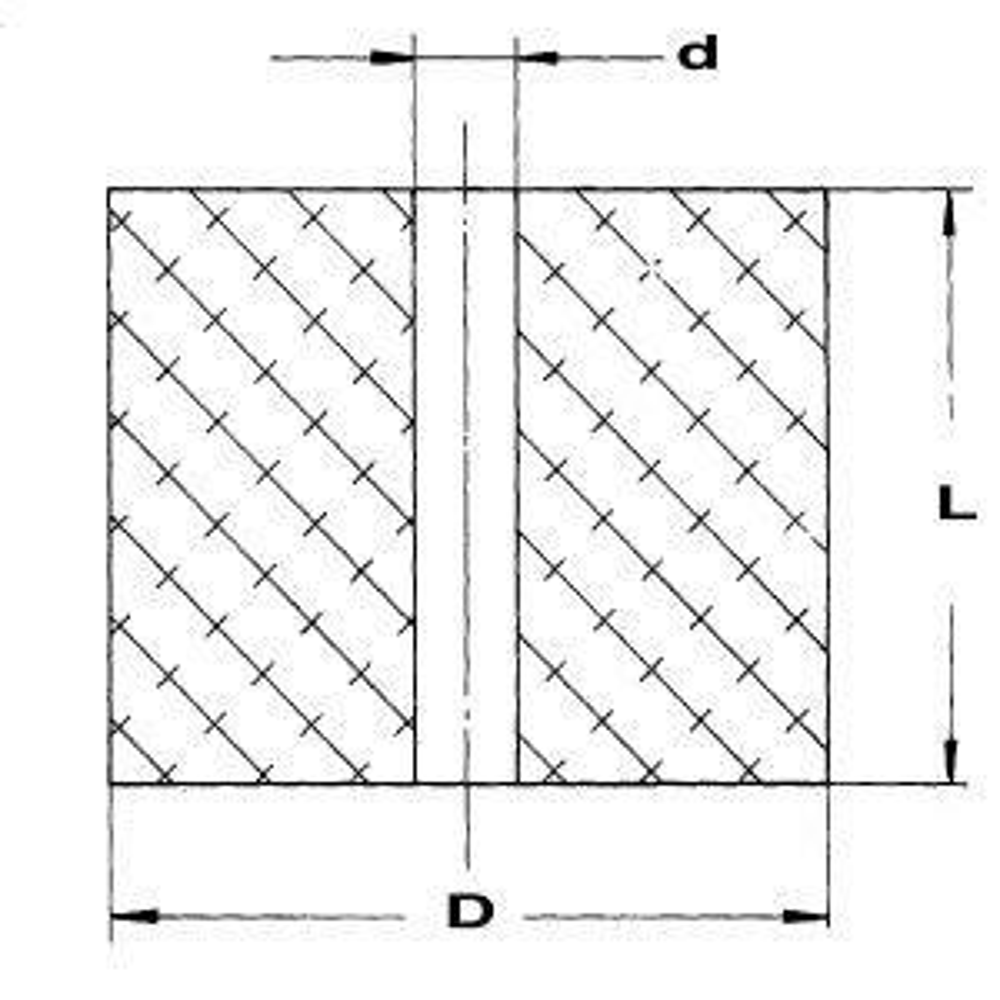 EFFBE Elastomer Federn DIN 9835 Typ 295 AD 50 mm L 40 mm
