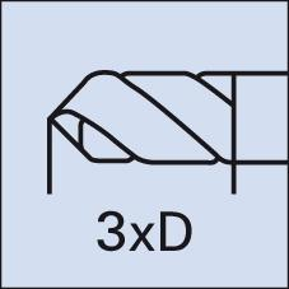 4,10mm FORMAT Kurzbohrer D6539N VHM bl